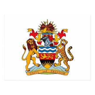 Postal del escudo de armas de Malawi