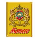 Postal del escudo de armas de Marruecos