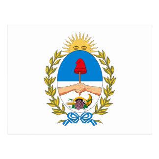 Postal del escudo de armas de Mendoza