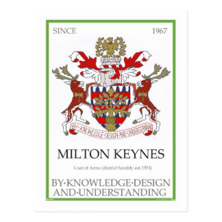 Postal del escudo de armas de Milton Keynes