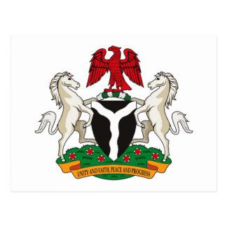 Postal del escudo de armas de Nigeria