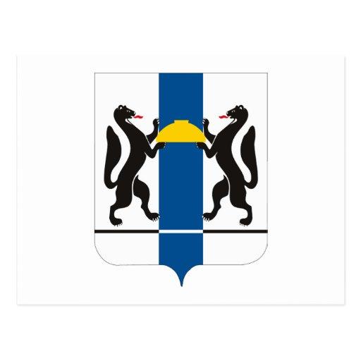 Postal del escudo de armas de Novosibirsk