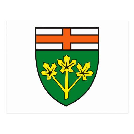 Postal del escudo de armas de Ontario (provincia)