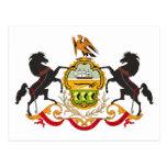 Postal del escudo de armas de Pennsylvania