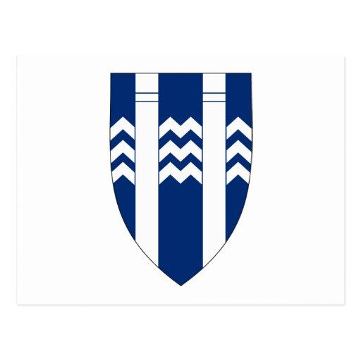 Postal del escudo de armas de Reykjavik