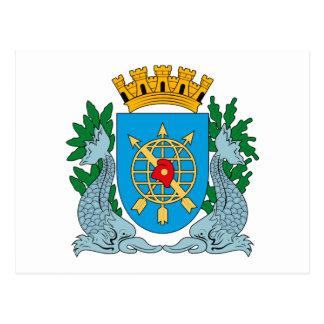 Postal del escudo de armas de Río de Janeiro