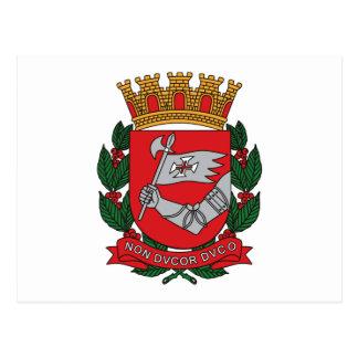 Postal del escudo de armas de Sao Paulo