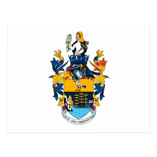 Postal del escudo de armas de St. Helena