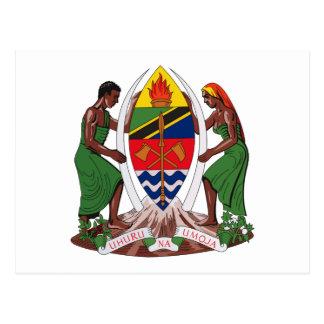 Postal del escudo de armas de Tanzania