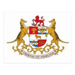 Postal del escudo de armas de Tasmania