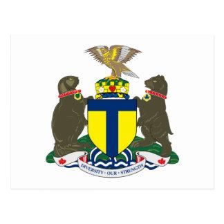 Postal del escudo de armas de Toronto