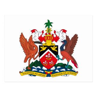 Postal del escudo de armas de Trinidad and Tobago
