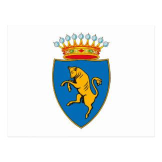 Postal del escudo de armas de Turín (Torino)