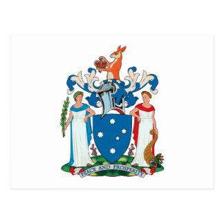 Postal del escudo de armas de Victoria