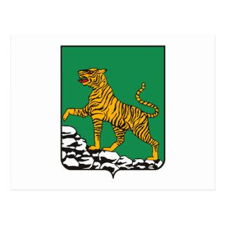 Postal del escudo de armas de Vladivostok