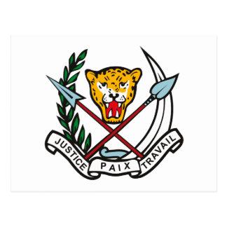 Postal del escudo de armas de Zaire