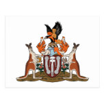 Postal del escudo de armas del Territorio del Nort
