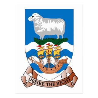 Postal del escudo de la bandera del mar de la nave