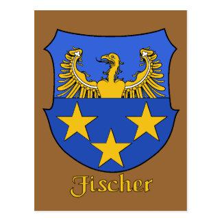 Postal del escudo de la familia de Fischer