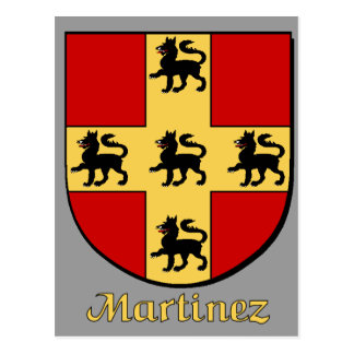 Postal del escudo de la familia de Martínez