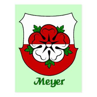 Postal del escudo de la familia de Meyer