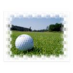 Postal del espacio abierto del golf