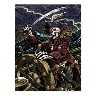 Postal del esqueleto del pirata