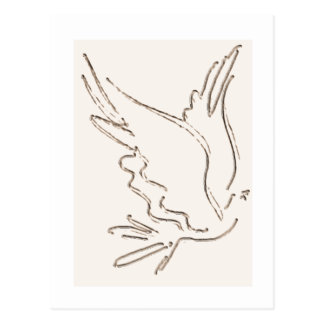 Postal del esquema de la paloma