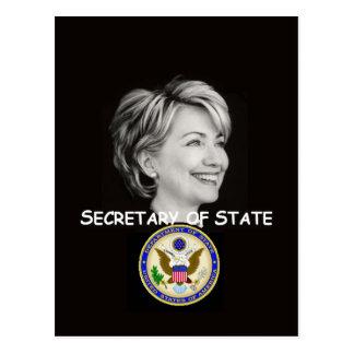 Postal del estado de Hillary
