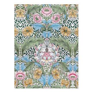 Postal del estampado de flores de William Morris M