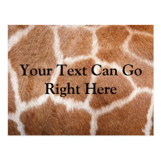 Postal del estampado de girafa