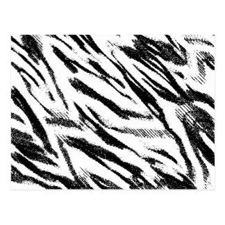 Postal del estampado de zebra del zigzag