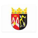 Postal del este del escudo de armas de Finlandia