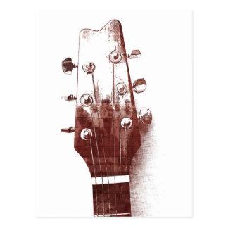 postal del estilo del bosquejo de la guitarra acús