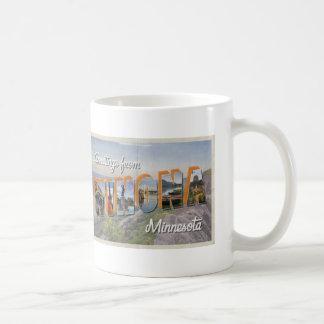 Postal del estilo del vintage de la taza de Winona