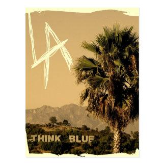 ¡Postal del estilo del vintage de Los Ángeles! Tarjeta Postal