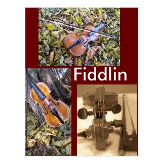 postal del fanático del fiddlin