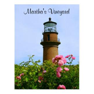 Postal del faro de Aquinnah del Martha s Vineyard