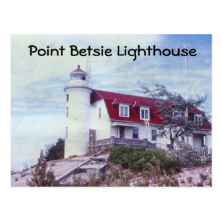 Postal del faro de Betsie del punto