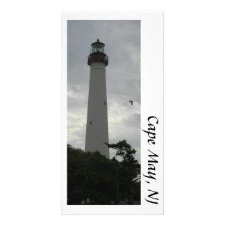 Postal del faro de Cape May Tarjeta Fotografica