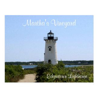 Postal del faro de Edgartown del Martha's Vineyard