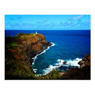 Postal del faro de Kilauea