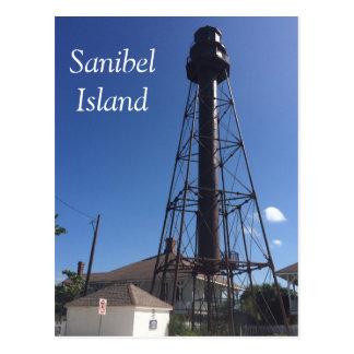 Postal del faro de la isla de Sanibel