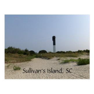 Postal del faro de la isla de Sullivan