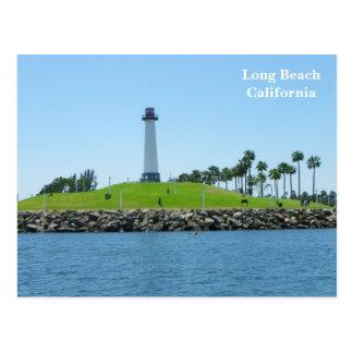 ¡Postal del faro de Long Beach!