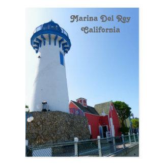 ¡Postal del faro de Marina Del Rey!