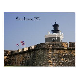 Postal del faro de San Juan