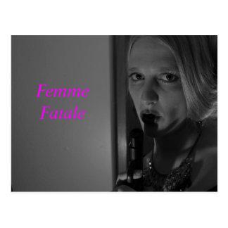 Postal del fatale de Femme