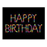 Postal del feliz cumpleaños del arco iris del fies