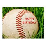 Postal del feliz cumpleaños del béisbol